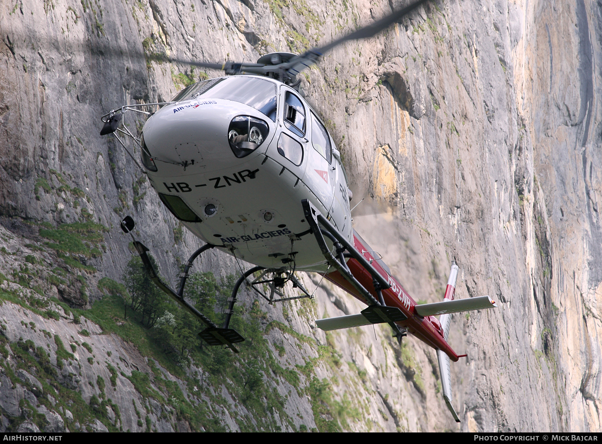 Aircraft Photo of HB-ZNR | Aerospatiale AS-350B-3 Ecureuil | Air Glaciers | AirHistory.net