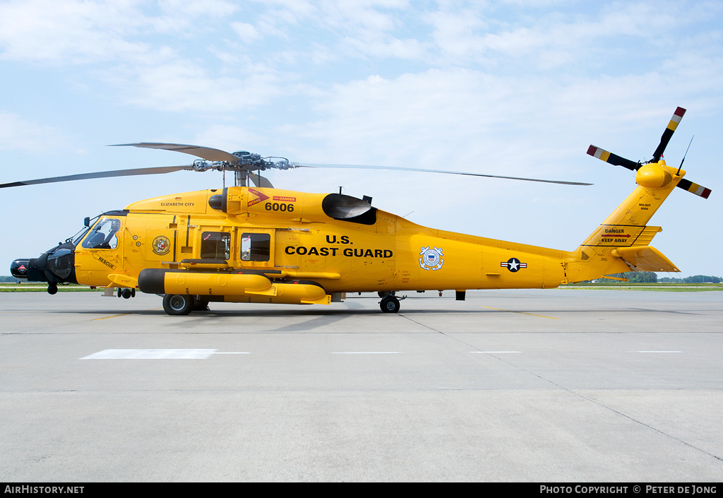 Aircraft Photo of 6006 | Sikorsky MH-60T Jayhawk (S-70B-5) | USA - Coast Guard | AirHistory.net #298