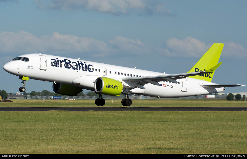 Aircraft Photo of YL-CSC | Bombardier CSeries CS300 (BD-500-1A11) | AirBaltic | AirHistory.net