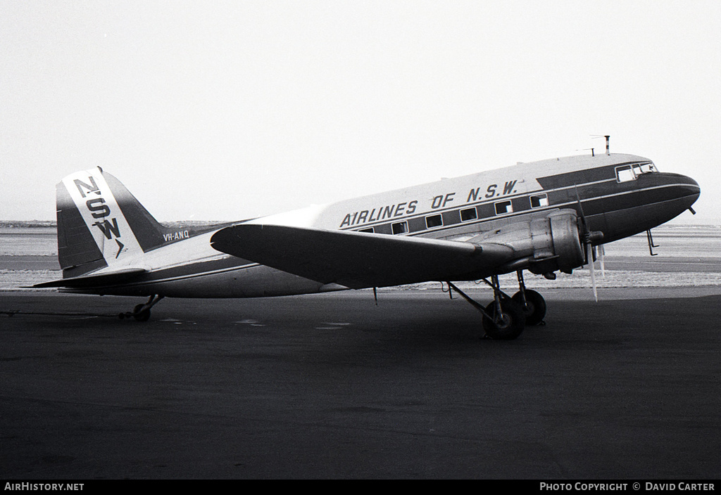 Aircraft Photo of VH-ANQ | Douglas DC-3-G202A | Airlines of NSW | AirHistory.net #484