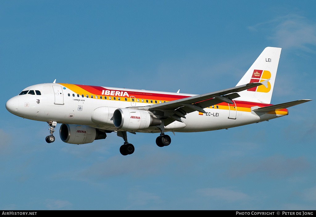 Aircraft Photo of EC-LEI | Airbus A319-111 | Iberia | AirHistory.net #489