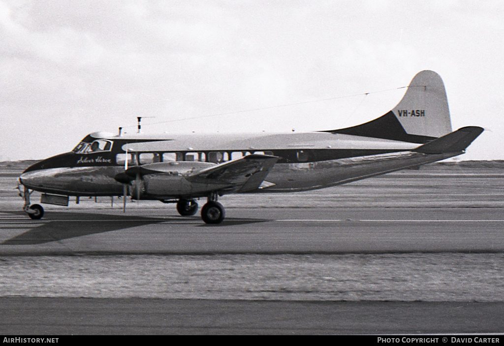 Aircraft Photo of VH-ASH | De Havilland DH.114 Heron 2D | Associated Airlines | AirHistory.net