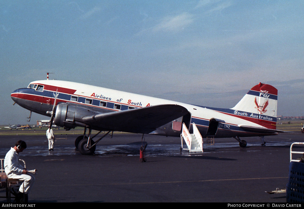 Aircraft Photo of VH-ANZ | Douglas DC-3-G202A | Airlines of South Australia - ASA | AirHistory.net