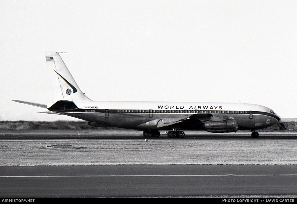 Aircraft Photo of N374WA | Boeing 707-373C | World Airways | AirHistory.net #768