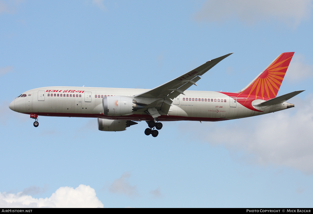 Aircraft Photo of VT-ANI | Boeing 787-8 Dreamliner | Air India | AirHistory.net #789