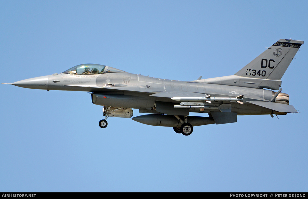 Aircraft Photo of 86-0340 / AF86-340 | General Dynamics F-16C Fighting Falcon | USA - Air Force | AirHistory.net
