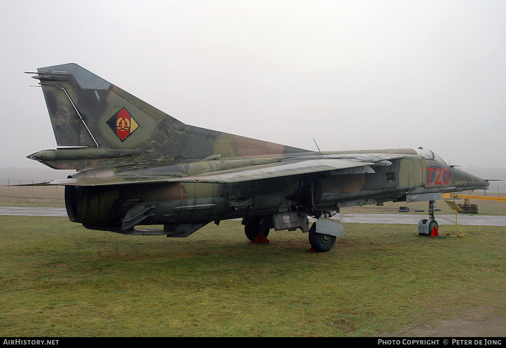 Aircraft Photo of 720 | Mikoyan-Gurevich MiG-23BN | East Germany - Air Force | AirHistory.net