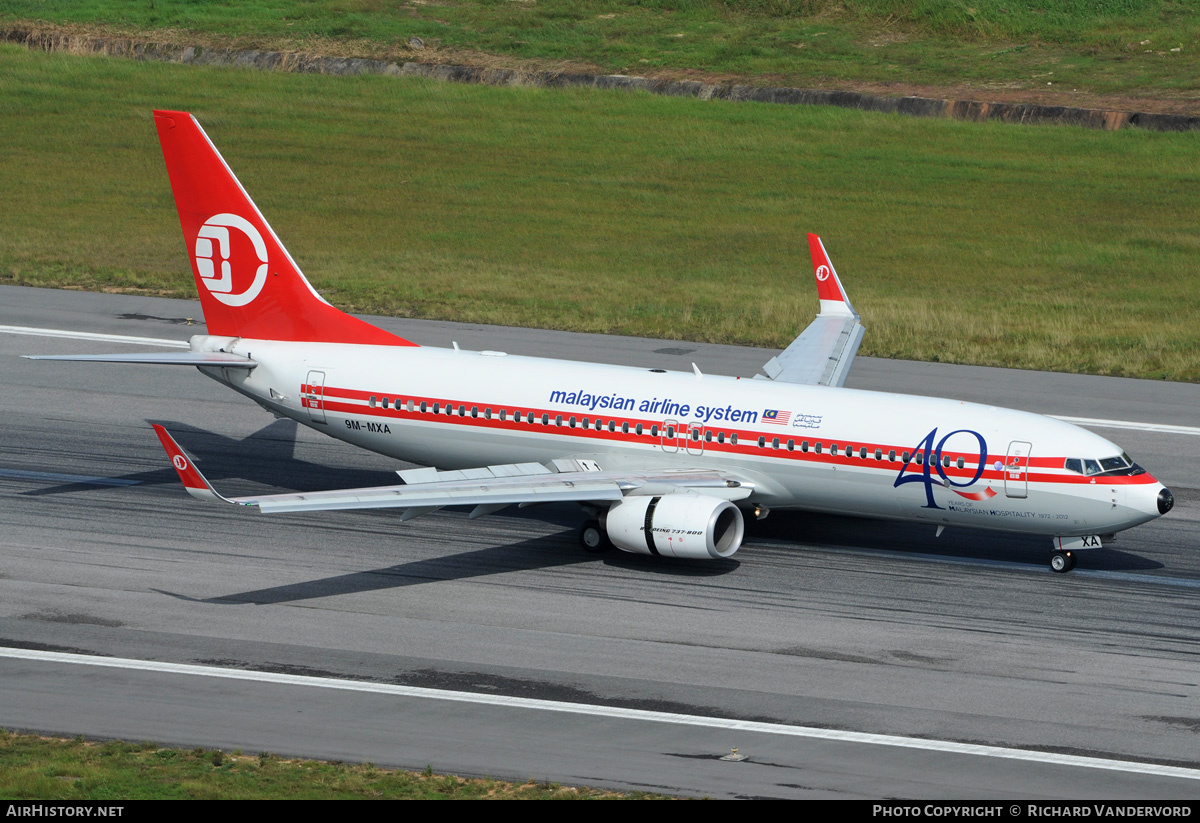 Aircraft Photo of 9M-MXA | Boeing 737-8H6 | Malaysian Airline System - MAS | AirHistory.net