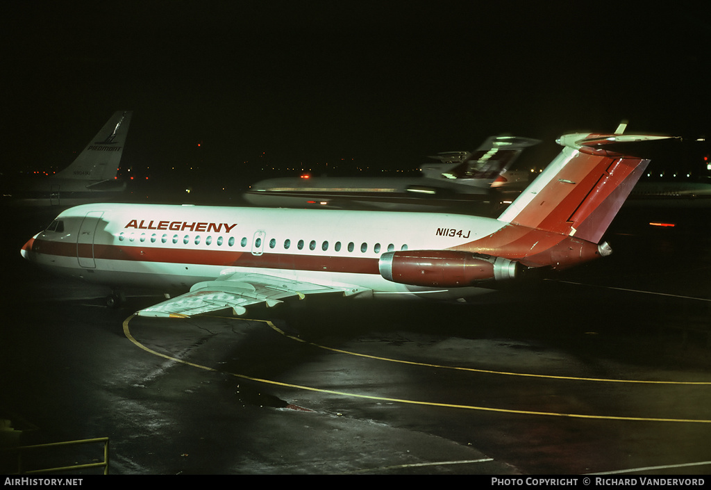 Aircraft Photo of N1134J | BAC 111-203AE One-Eleven | Allegheny Airlines | AirHistory.net