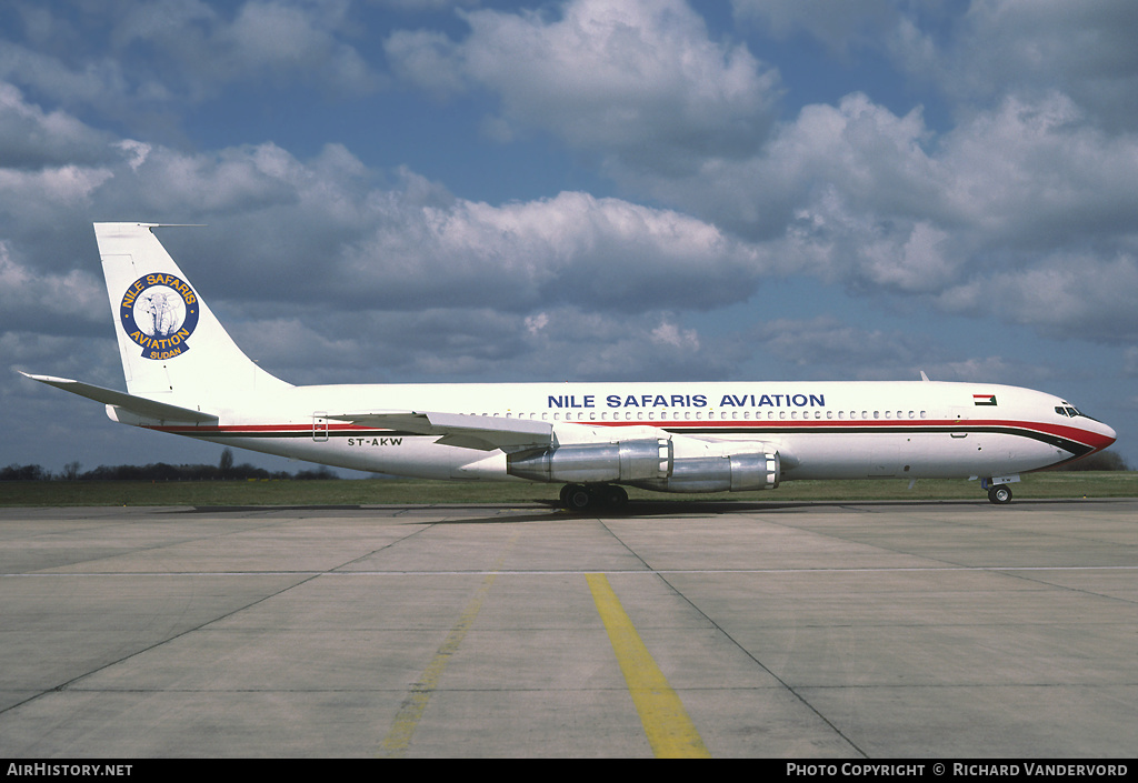 Aircraft Photo of ST-AKW | Boeing 707-330C | Nile Safaris Aviation | AirHistory.net