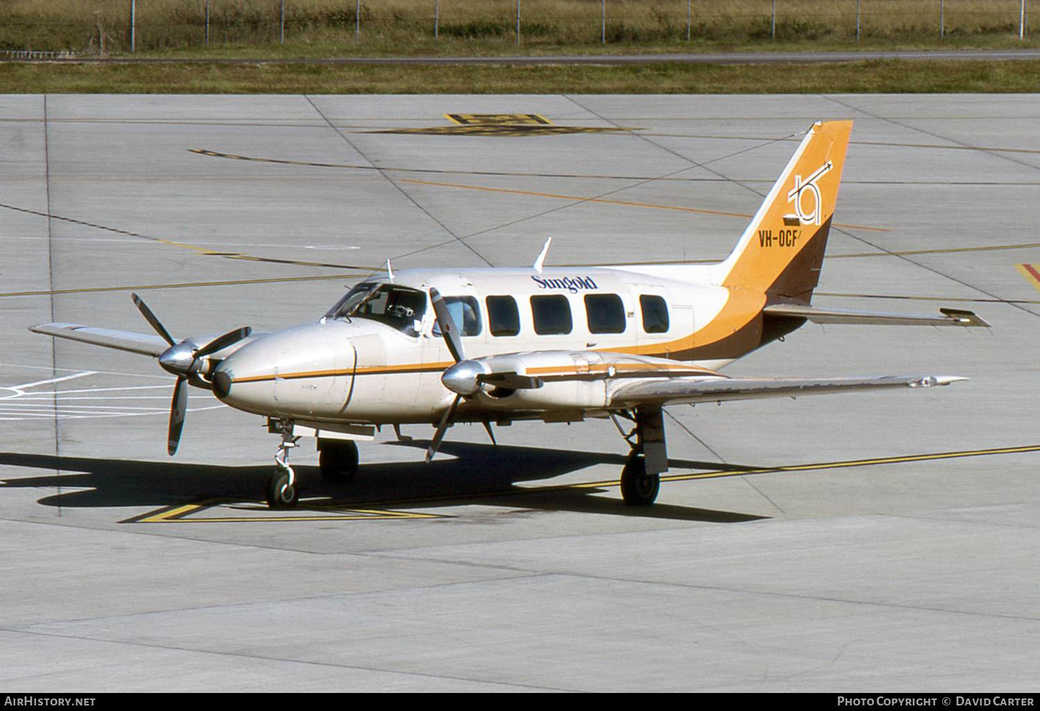 Aircraft Photo of VH-OCF | Piper PA-31-350 T-1020 | Sungold Airlines | AirHistory.net