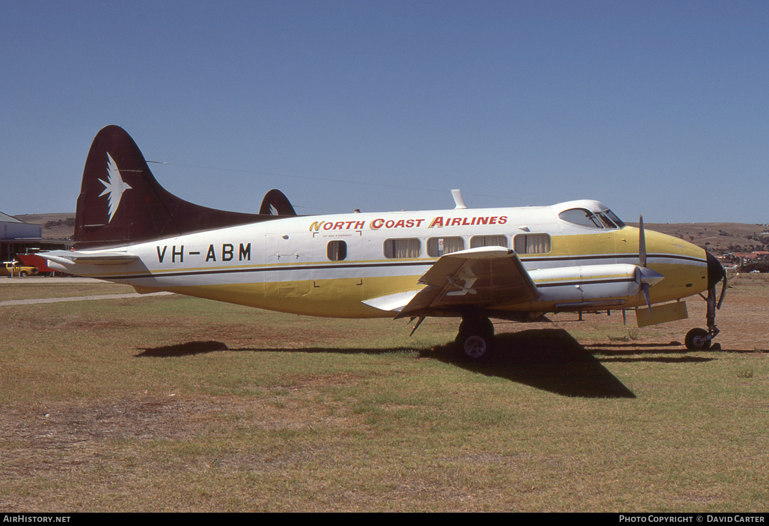 Aircraft Photo of VH-ABM | De Havilland D.H. 104 Riley Turbo-Exec 400 | North Coast Airlines | AirHistory.net