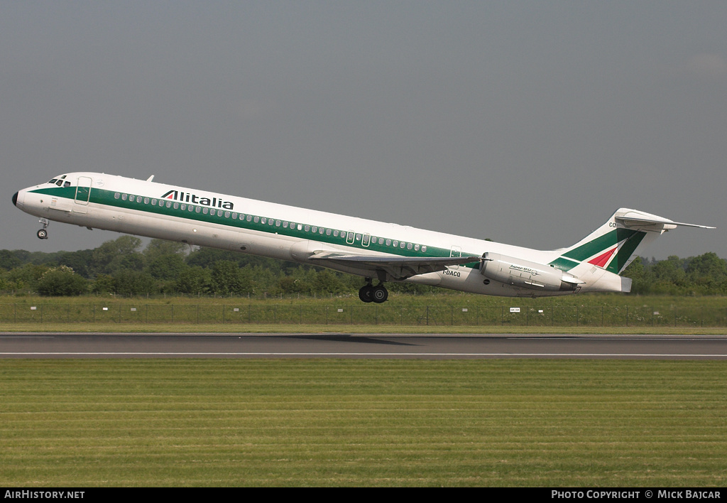 Aircraft Photo of I-DACQ | McDonnell Douglas MD-82 (DC-9-82) | Alitalia | AirHistory.net #1760