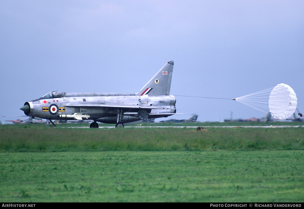 Aircraft Photo of XM192 | English Electric Lightning F1A | UK - Air Force | AirHistory.net