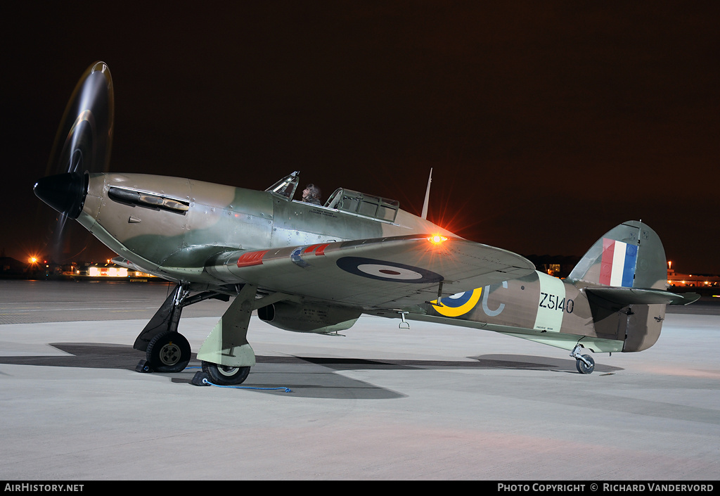 Aircraft Photo of G-HURI / Z5140 | Hawker Hurricane Mk12A | UK - Air Force | AirHistory.net