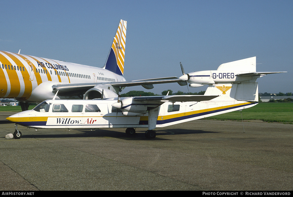 Aircraft Photo of G-OREG | Britten-Norman BN-2A Mk3-1 Trislander | Willow Air | AirHistory.net #2395