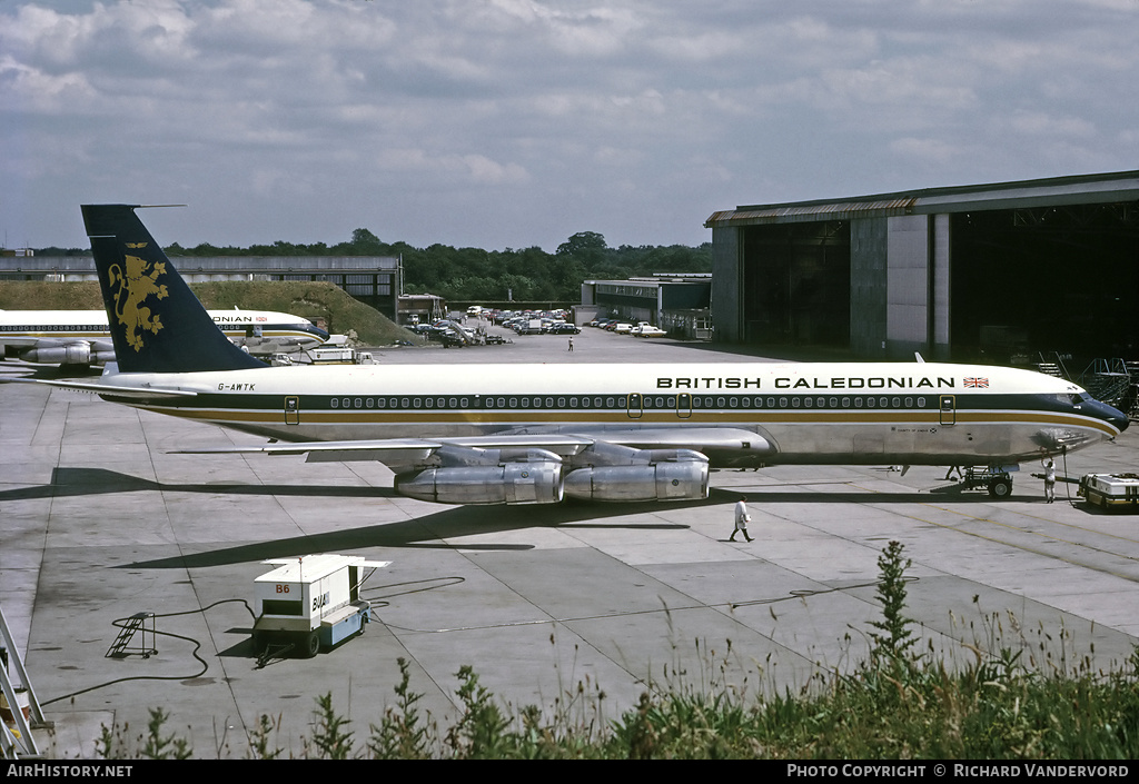 Aircraft Photo of G-AWTK | Boeing 707-349C | British Caledonian Airways | AirHistory.net #2585