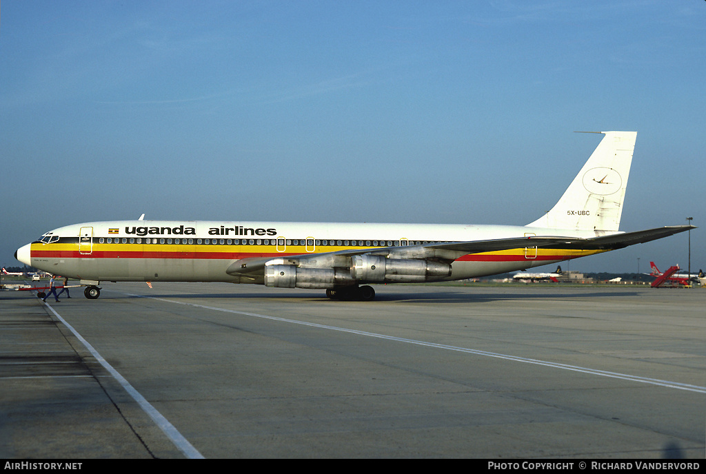 Aircraft Photo of 5X-UBC | Boeing 707-338C | Uganda Airlines | AirHistory.net #2591