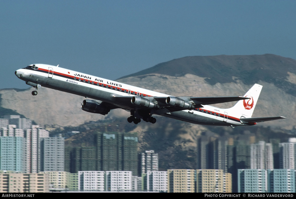 Aircraft Photo of JA8045 | McDonnell Douglas DC-8-61 | Japan Air Lines - JAL | AirHistory.net #2669