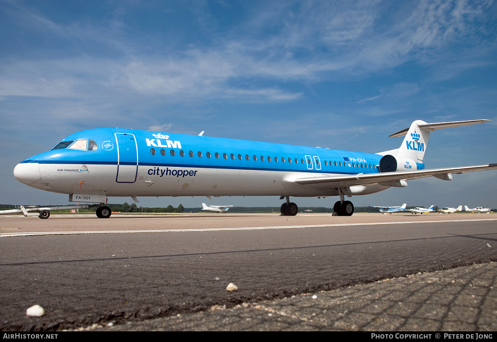 Aircraft Photo of PH-OFA | Fokker 100 (F28-0100) | KLM Cityhopper | AirHistory.net #2838