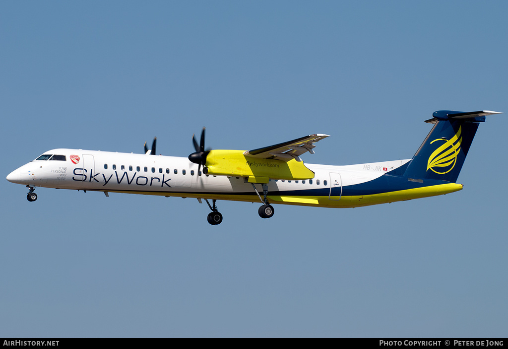 Aircraft Photo of HB-JIK | Bombardier DHC-8-402 | SkyWork Airlines | AirHistory.net #2886