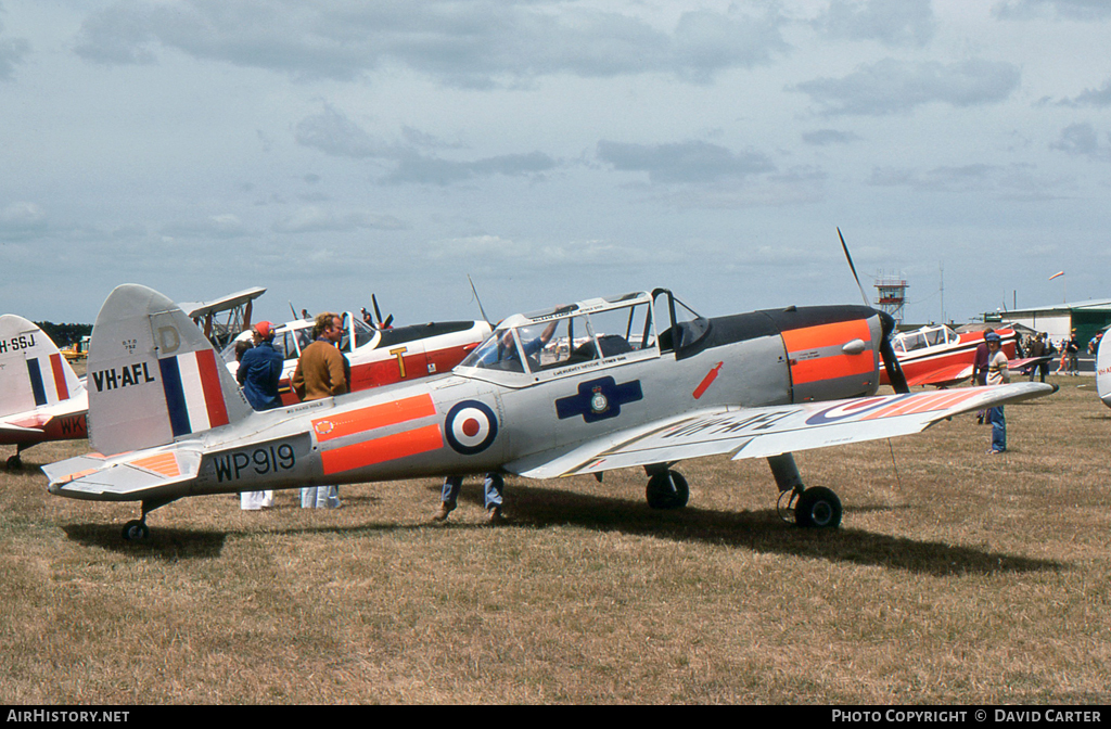 Aircraft Photo of VH-AFL / WP919 | De Havilland DHC-1 Chipmunk Mk22 | UK - Air Force | AirHistory.net #2922