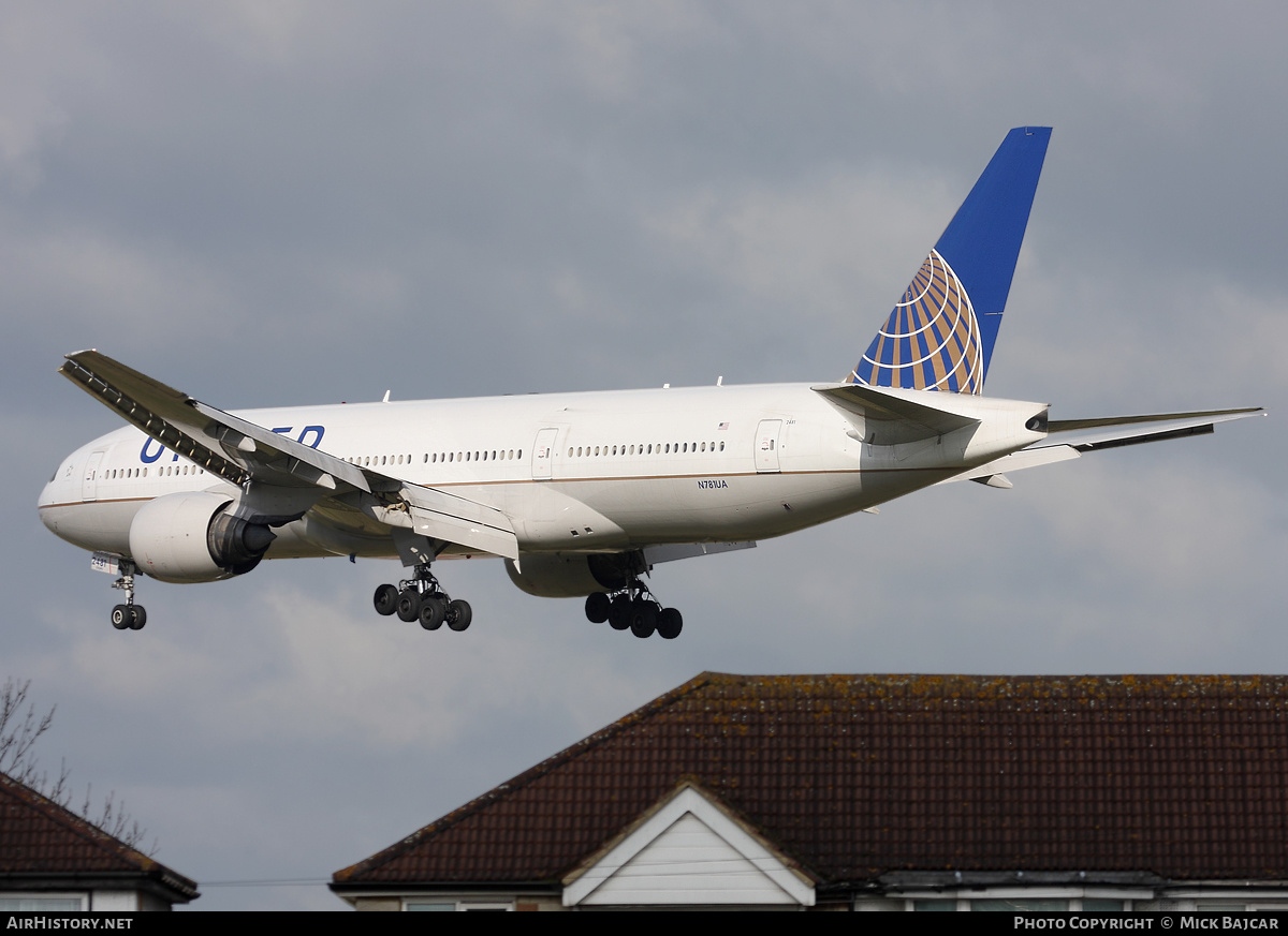 Aircraft Photo of N781UA | Boeing 777-222 | United Airlines | AirHistory.net #3000