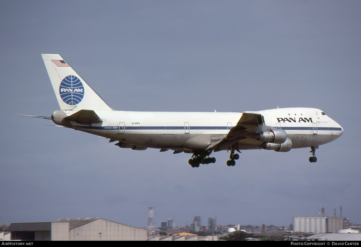 Aircraft Photo of N749PA | Boeing 747-121 | Pan American World Airways - Pan Am | AirHistory.net #3297