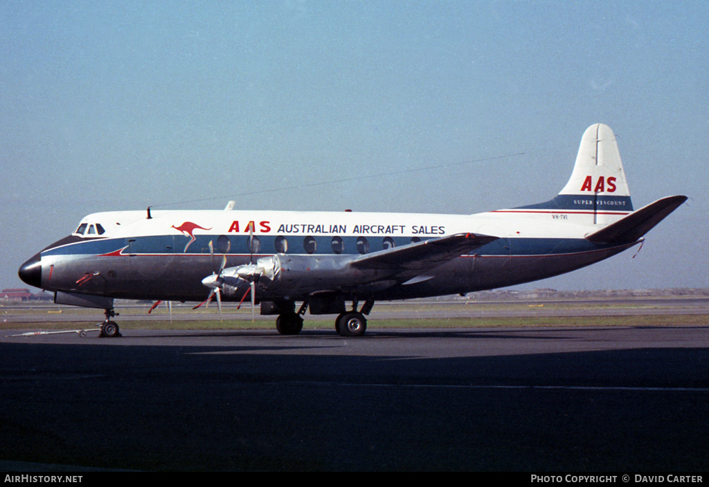 Aircraft Photo of VH-TVI | Vickers 756D Viscount | Australian Aircraft Sales - AAS | AirHistory.net #3343