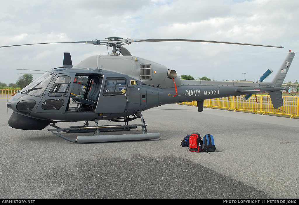 Aircraft Photo of M502-1 | Eurocopter AS-555SN Fennec | Malaysia - Navy | AirHistory.net #3420