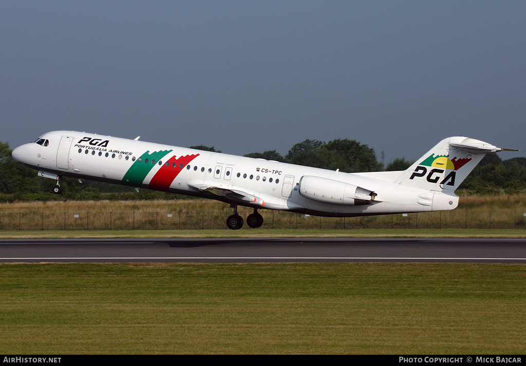 Aircraft Photo of CS-TPC | Fokker 100 (F28-0100) | Portugália Airlines - PGA | AirHistory.net #3428