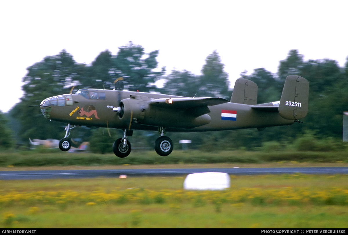 Aircraft Photo of N320SQ / N5-149 | North American B-25J Mitchell | Netherlands East Indies - Air Force | AirHistory.net #3456