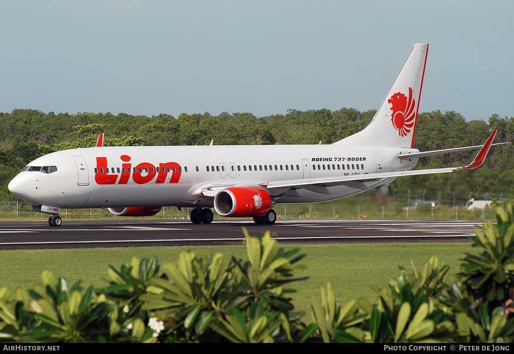 Aircraft Photo of PK-LFH | Boeing 737-9GP/ER | Lion Air | AirHistory.net #3707