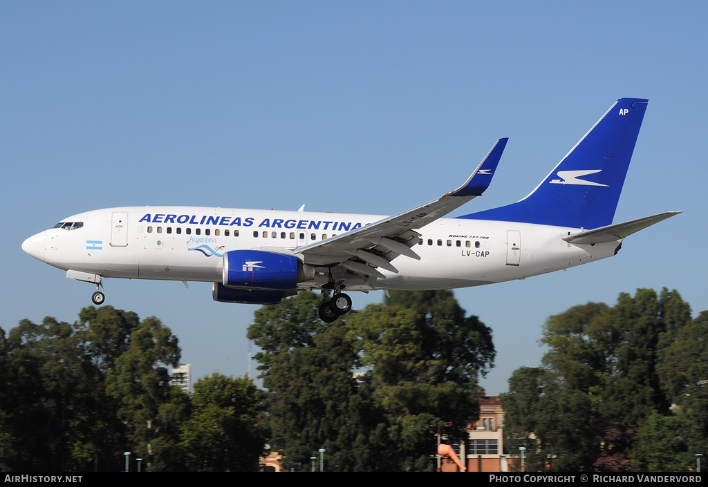 Aircraft Photo of LV-CAP | Boeing 737-76N | Aerolíneas Argentinas | AirHistory.net #3727