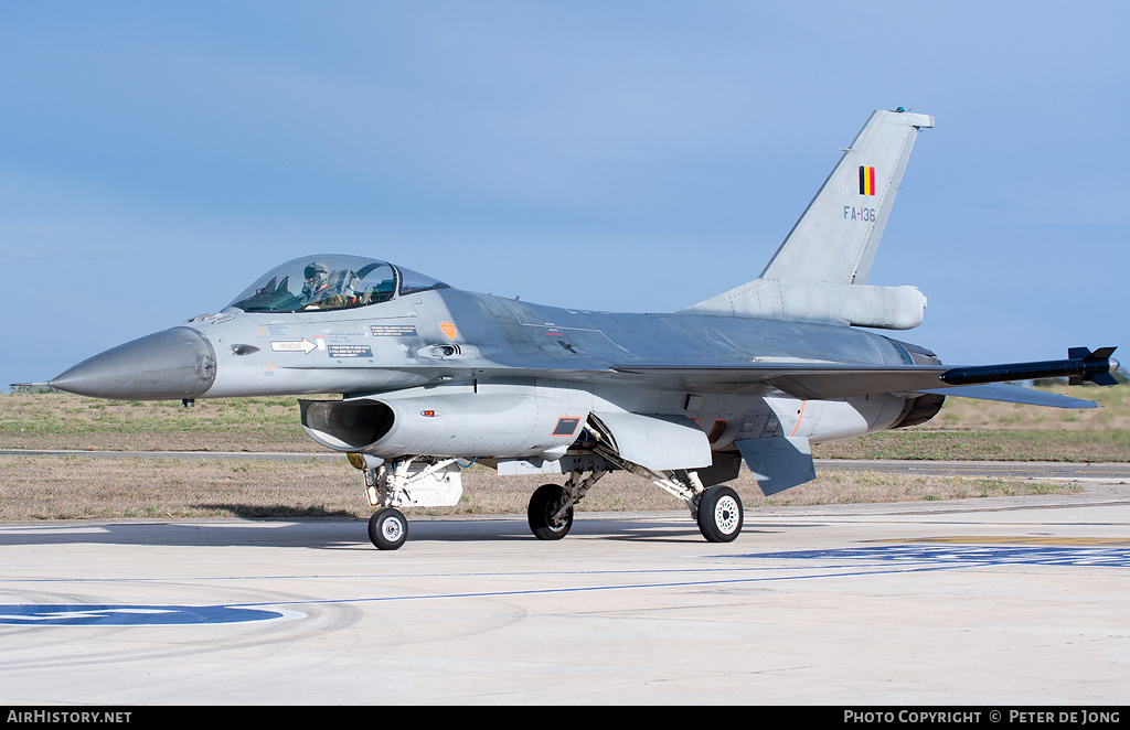 Aircraft Photo of FA-136 | General Dynamics F-16AM Fighting Falcon | Belgium - Air Force | AirHistory.net #3740