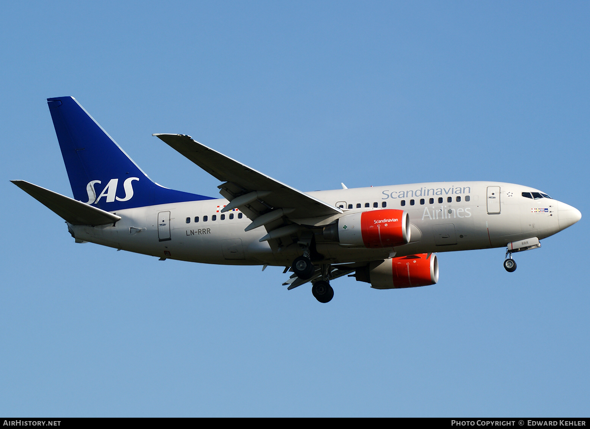 Aircraft Photo of LN-RRR | Boeing 737-683 | Scandinavian Airlines - SAS | AirHistory.net #3749