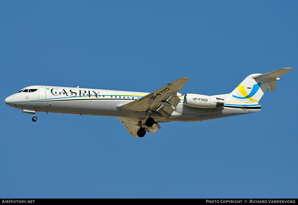 Aircraft Photo of UP-F1002 | Fokker 100 (F28-0100) | Caspiy | AirHistory.net #3768