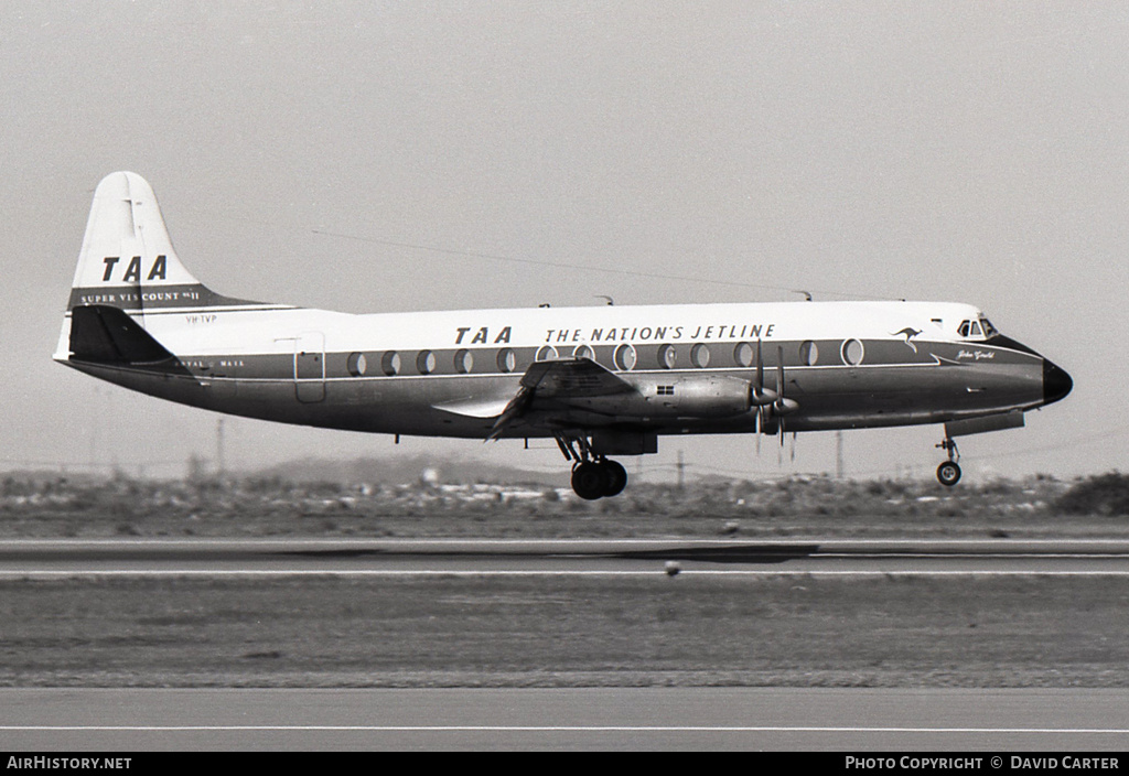 Aircraft Photo of VH-TVP | Vickers 816 Viscount | Trans-Australia Airlines - TAA | AirHistory.net #3891