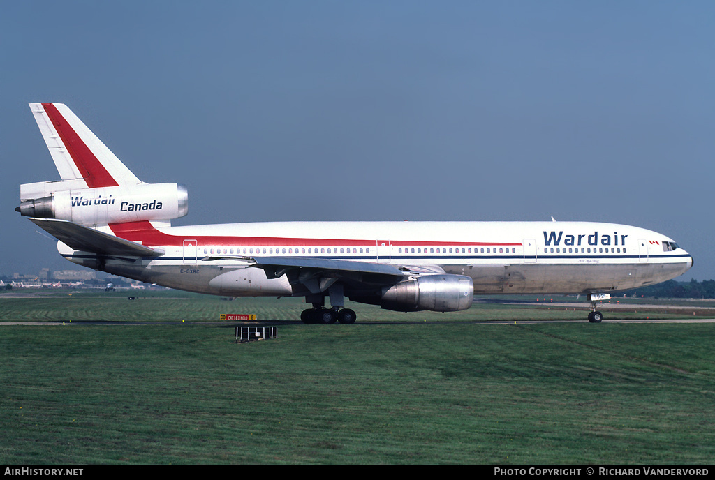 Aircraft Photo of C-GXRC | McDonnell Douglas DC-10-30 | Wardair Canada | AirHistory.net #4021