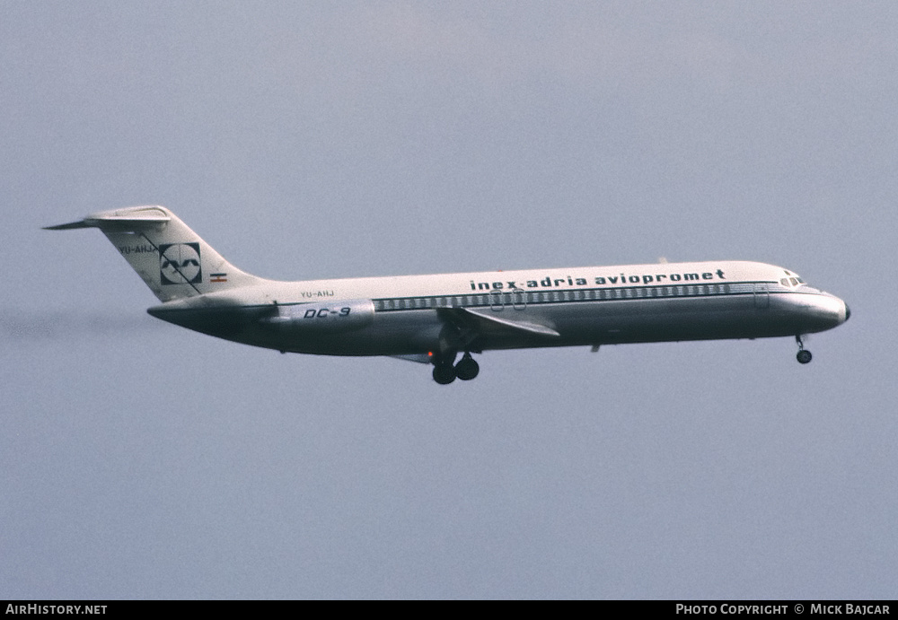 Aircraft Photo of YU-AHJ | McDonnell Douglas DC-9-32 | Inex-Adria Airways | AirHistory.net #4039