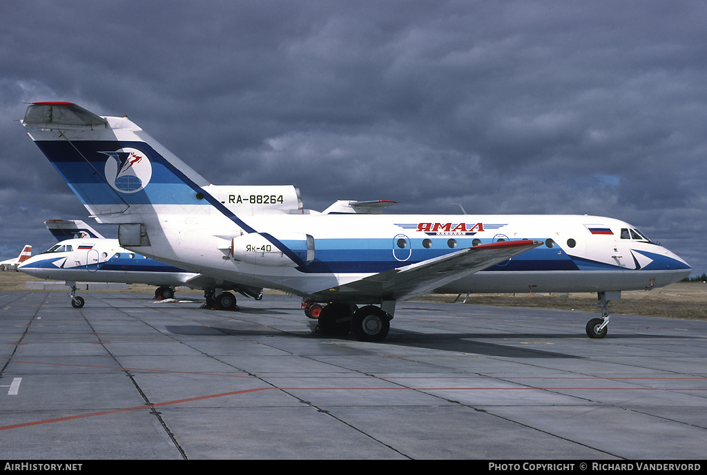 Aircraft Photo of RA-88264 | Yakovlev Yak-40K | Yamal Airlines | AirHistory.net #4055
