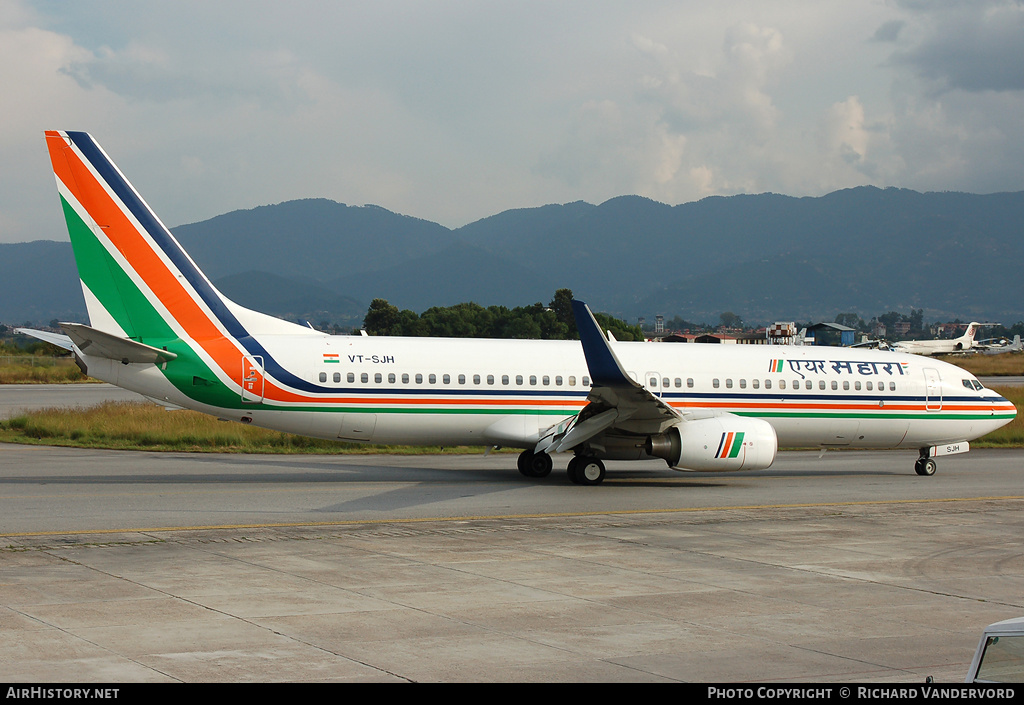 Aircraft Photo of VT-SJH | Boeing 737-8Q8 | Air Sahara | AirHistory.net