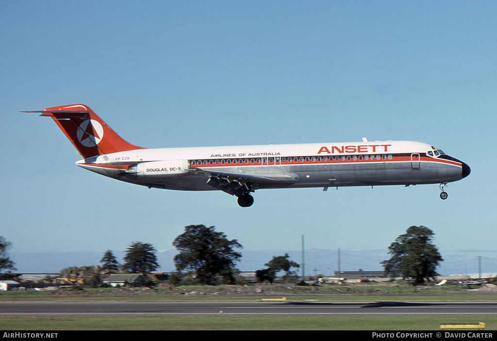 Aircraft Photo of VH-CZK | McDonnell Douglas DC-9-31 | Ansett Airlines of Australia | AirHistory.net #4219