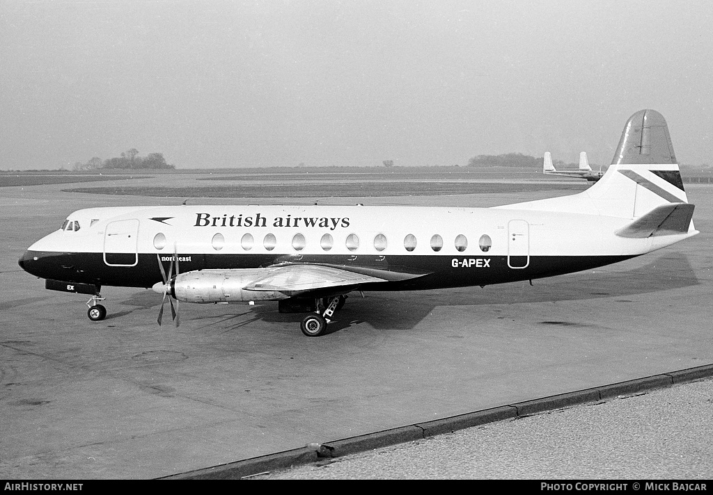 Aircraft Photo of G-APEX | Vickers 806 Viscount | British Airways | AirHistory.net