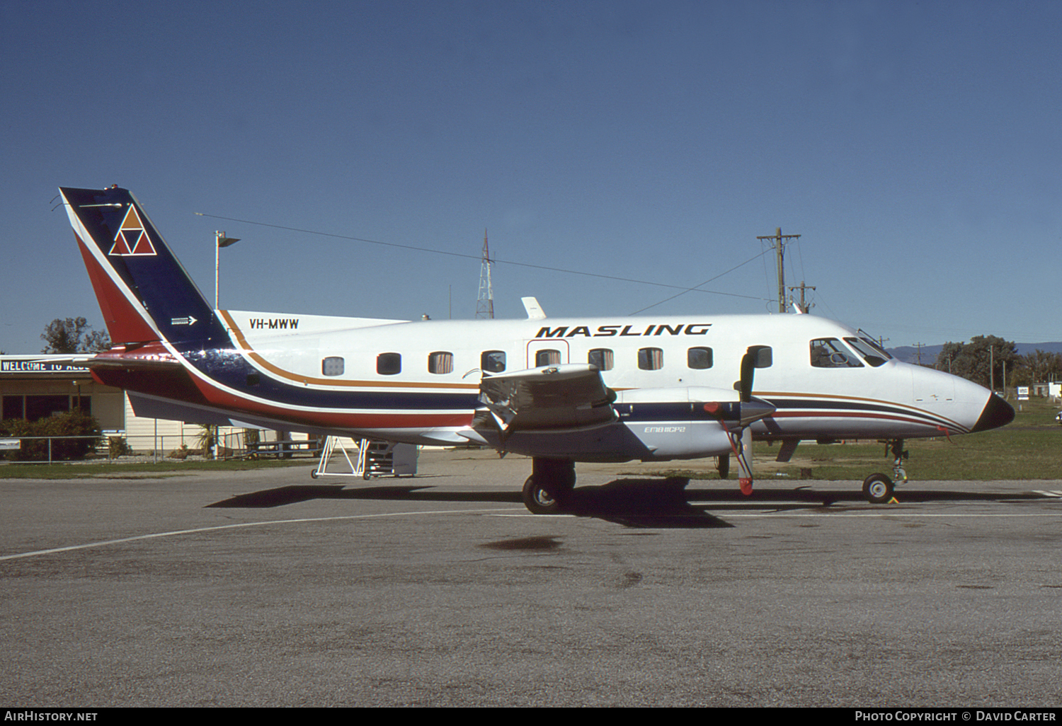 Aircraft Photo of VH-MWW | Embraer EMB-110P2 Bandeirante | Masling Airlines | AirHistory.net #4487