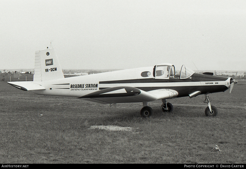 Aircraft Photo of VH-DCM | Fletcher FU-24A Mk.II | Rosedale Station | AirHistory.net