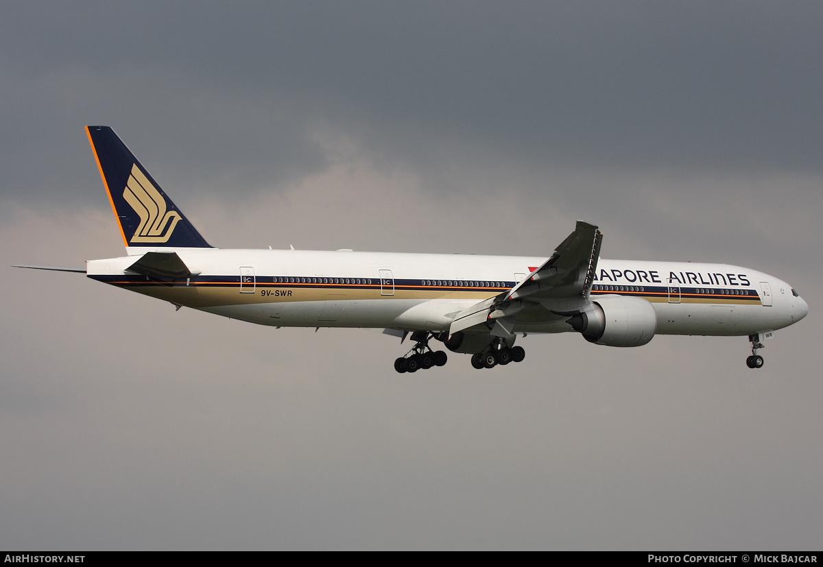 Aircraft Photo of 9V-SWR | Boeing 777-312/ER | Singapore Airlines | AirHistory.net #4792