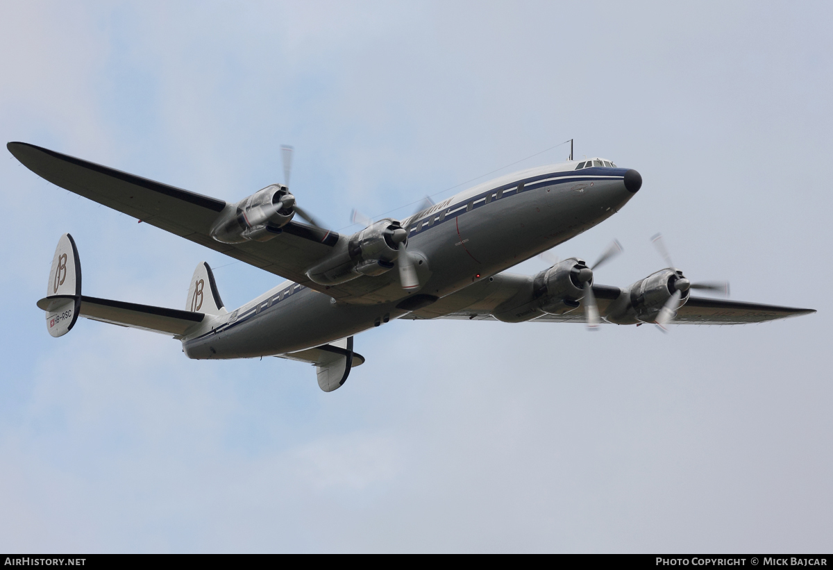 Aircraft Photo of HB-RSC | Lockheed L-1049F Super Constellation | Breitling | AirHistory.net