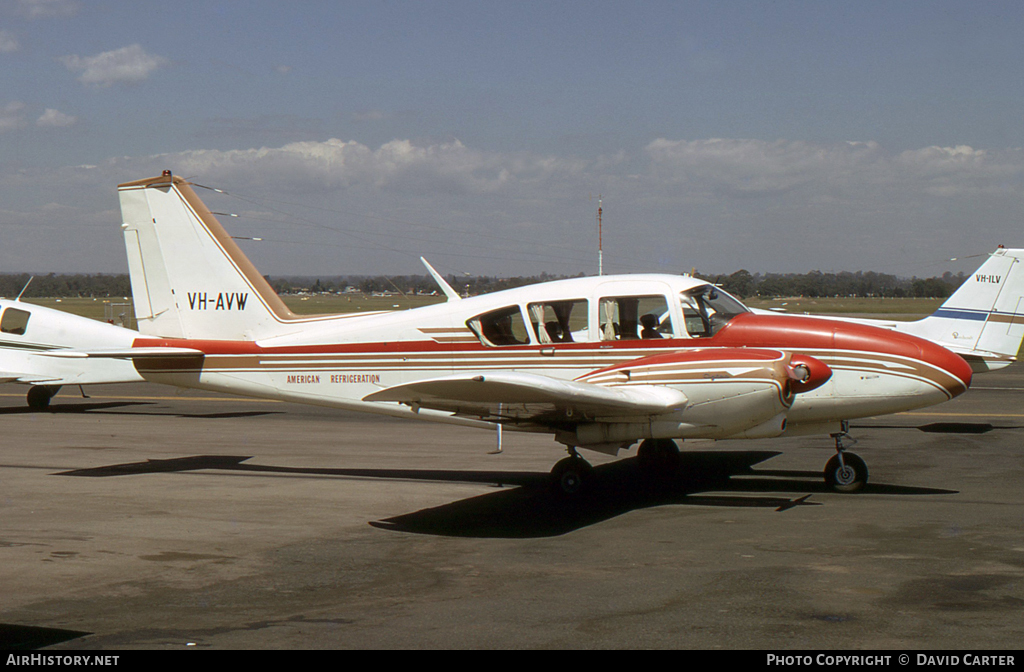 Aircraft Photo of VH-AVW | Piper PA-23-250 Aztec B | American Refrigeration | AirHistory.net #5105