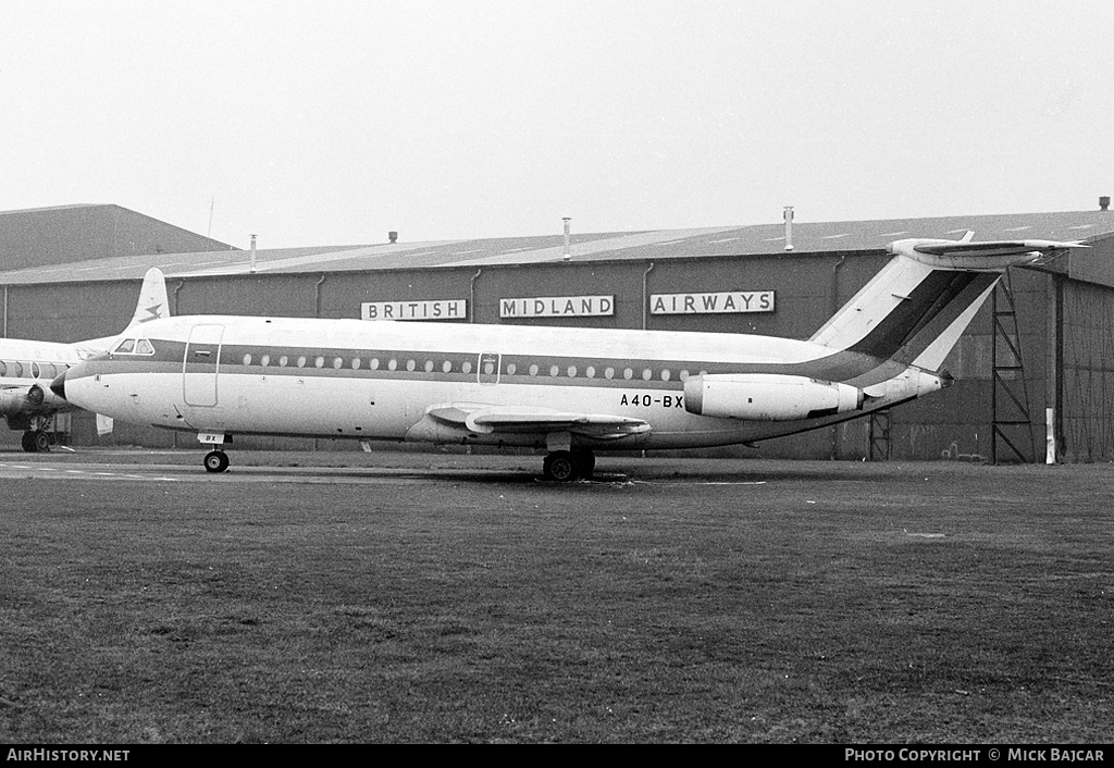 Aircraft Photo of A4O-BX | BAC 111-409AY One-Eleven | AirHistory.net #5164